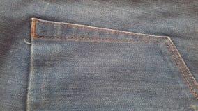 Pustego cajg tekstury grunge rocznika tekstylny drelichowy tło Fotografia Royalty Free