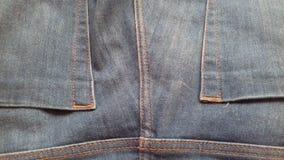 Pustego cajg tekstury grunge rocznika tekstylny drelichowy tło Zdjęcie Royalty Free