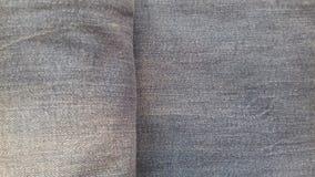 Pustego cajg tekstury grunge rocznika tekstylny drelichowy tło Fotografia Stock