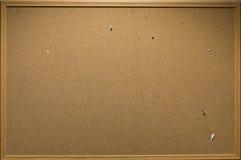 pustego deski korka odosobniona notatka Obrazy Royalty Free