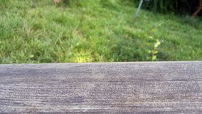 Pustego drewnianego pokładu horyzontalny stół Obraz Stock