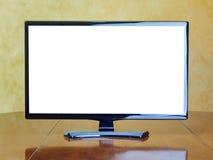 Pustego ekranu TV monitor na stole Zdjęcie Stock