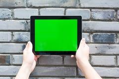 Pustego miejsca i zieleni ekran cyfrowa pastylka Zdjęcia Royalty Free