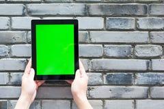 Pustego miejsca i zieleni ekran cyfrowa pastylka Obraz Royalty Free