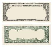 Pustego miejsca jeden dolarowy rachunek Obraz Royalty Free