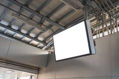 Pustego miejsca LCD ekranu egzamin próbny up w staci metru zdjęcie royalty free