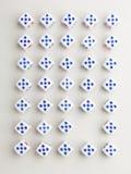 Pustego miejsca pięć krzyża wzór Obraz Stock