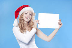 pustego miejsca pusty dziewczyny mienie Santa Zdjęcia Royalty Free