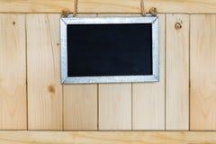 Pustego miejsca szyldowy obwieszenie na drewnianym Obraz Royalty Free