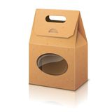 Pustego realistycznego rzemiosła papierowa pakuje torba z Obraz Stock