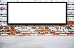 Pustego reklamowego billboardu lub szerokiego ekranu telewizja Obrazy Royalty Free