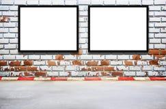 Pustego reklamowego billboardu lub szerokiego ekranu telewizja Obrazy Stock