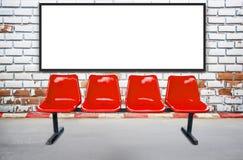 Pustego reklamowego billboardu lub szerokiego ekranu telewizja ch i czerwień Obrazy Royalty Free