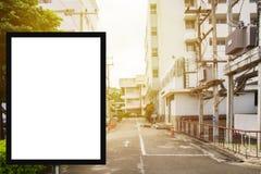 Pustego reklamowego billboardu lub szerokiego ekranu telewizja z blurr Zdjęcie Royalty Free
