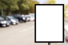 Pustego reklamowego billboardu lub szerokiego ekranu telewizja z blurr Zdjęcia Royalty Free