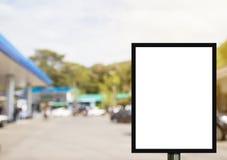 Pustego reklamowego billboardu lub szerokiego ekranu telewizja z blurr Obraz Royalty Free