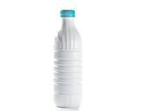 pustej butelki pokrywkowy plastikowy biel Zdjęcia Royalty Free