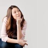 pustej dziewczyny przyglądająca przestrzeń Zdjęcie Stock