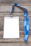 pustej karty id etykietka Obraz Stock