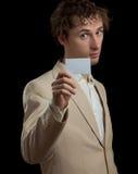 pustej karty mienia mężczyzna Obraz Stock
