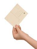 pustej karty ręki rocznik obraz royalty free