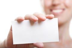 pustej karty ręka Obraz Stock