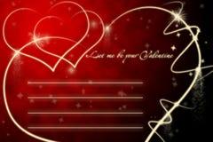 pustej karty spraklers valentine royalty ilustracja