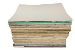 pustej pokrywy magazynów sterta obrazy stock