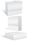 pustej pudełkowatej skrzynka ilustracyjny setu wektor Obrazy Royalty Free