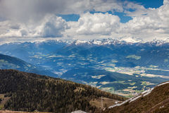 Pustertal view from Kronplatz in South Tyrol Stock Image