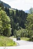 Pustertaler Höhenstrasse en el Tyrol, Austria Fotografía de archivo