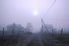 Pustkowia przy aksamitną mgłą Obrazy Stock