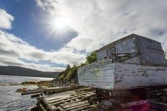 Pustkowie brzeg jeziora Obraz Royalty Free