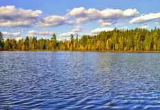 Pustkowie jezioro zdjęcia royalty free