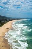 Pustkowie plaża przy Ogrodową trasą, Południowa Afryka obraz stock