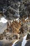 Pustkowie w losu angeles Casse déserte, francuza Queyras Naturalny park zdjęcie stock