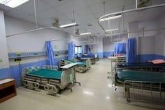 Pusty łóżko w sala szpitalnej Obrazy Royalty Free