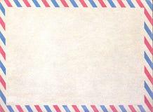Pusty airmail puste miejsce lub list, kartonu papier obrazy stock