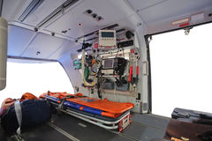 Pusty ambulansowy helikopter Fotografia Royalty Free