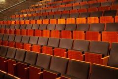Pusty audytorium teatr, kino, konferencja lub filharmonia, rzędy krzesła zdjęcie stock