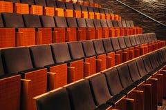 Pusty audytorium teatr, kino, konferencja lub filharmonia, rzędy krzesła obraz stock