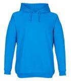 Pusty błękitny bluzy sportowa mockup odizolowywający Fotografia Stock