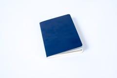 Pusty błękitny paszport na białym tle obraz royalty free