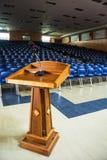 Pusty Błękitny teatru miejsca siedzące Fotografia Royalty Free
