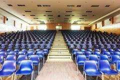 Pusty Błękitny teatru miejsca siedzące Obraz Stock
