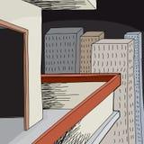 Pusty balkon przy nocą Obrazy Stock