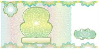 pusty banknotu układ Obrazy Royalty Free