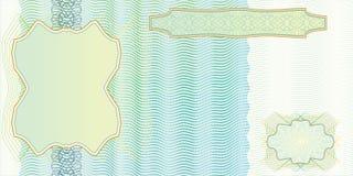 pusty banknotu układ Fotografia Stock