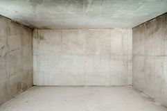 pusty betonu pokój Zdjęcia Royalty Free