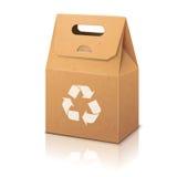 Pusty białego papieru ecologic rzemiosło pakuje torbę Zdjęcia Royalty Free